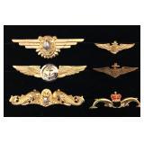 #462 Naval Aviator, Submarine pin, Flight Surgeon Wings