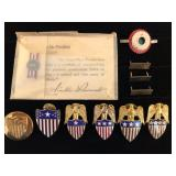 #467 Military Aid to General Insignia pins
