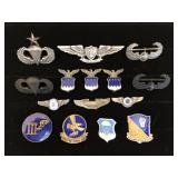 #469 Flight related pin lot of 15 incl. Chief USAF GOC Observer