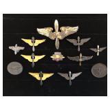 #470 12 Propeller & aircraft related pins