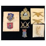 #472 Cool lot of 8 incl. 8th Div. Trans, 1st Manitoba Mounted Rifles