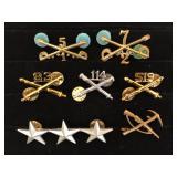 #473 Cavalry, Artillery pins & Lieutenant General