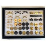 #475 US Army Infantry Cross Rifles pin lot