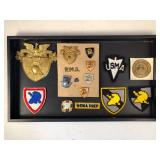 #486 West Point Military Pin lot incl. various pins, badges