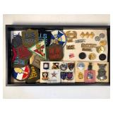 #487 ROTC lot of pins, patches, incl. San Antonio