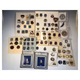 #488 Large Military pin lot incl. NS Meyer 31st Infantry Mole pins
