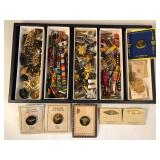 #490 Large lot of various military decorations