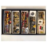 #491 Large lot of various military decorations #2