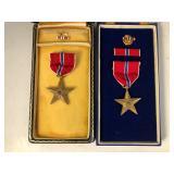 #497 Lot of 2 Bronze Stars in cases