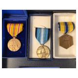#499 Lot of 9 Military medals incl. Antarctica