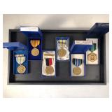 #501 Lot of 6 metals incl. Armed Forces Reserved