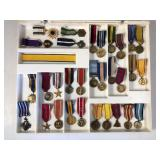 #502 Large lot of miniature medals incl. Navy Cross