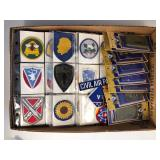 #506 Patch lot incl. US Army Corp of Engineers plastic 3D decal