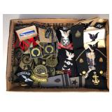 #510 Patch lot incl. US Navy Ranking Patches, etc.