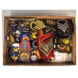 #511 Marine Corp Ranks, Navy, Combat Defense patches, etc.