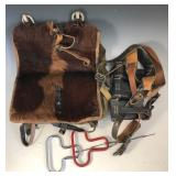 #512 WWII German Backpack/satchel bag with magazine belt
