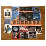 #520 Small Space lot incl. photographs, Astronaut Chart Poster, etc.