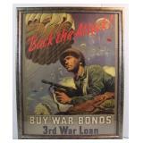 Dated 1943 US WW2 War Bonds Poster
