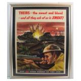 Dated 1943 US Military Industrial Production Encouragement Poster