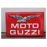 3D Moto Guzzi single sided large plastic dealer sign #1