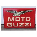 Moto Guzzi single sided large plastic dealer sign #2
