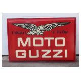 Moto Guzzi single sided large plastic dealer sign #3