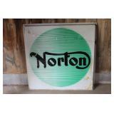 Norton large single sided dealer sign- cracked corner