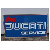 Ducati Service plastic sign- blue
