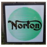 Norton single sided plastic dealer sign framed