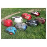 Nice selection of gas tanks incl. Triumph