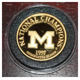 1997 UofM National Champions 1 oz gold