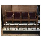 Four chair shoe shinning unit