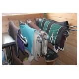 Horse blankets, saddle pads,