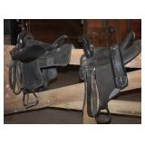 Saddle king TX black leather 1450-15