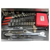 Torque wrench, sockets, etc.
