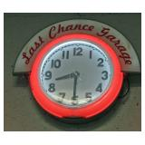vintage Last Chance Garage Neon clock