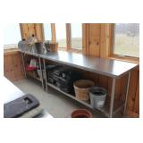 (2) Sm. Stainless work tables