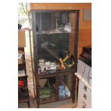 Rustic Glass display cabinet