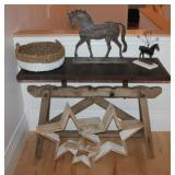 Farm house hall table, Decor. stars