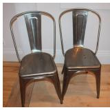 Tolix dining chairs- 8