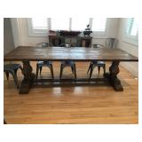 Restoration hardware trestle table 102x39x30