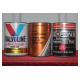 NOS Oil cans- Valvoline, etc.