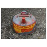 Small metal gas can