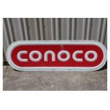 #196 Conoco plastic sign insert