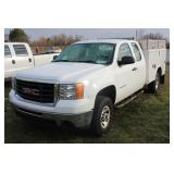 #1188 2010 GMC Sierra 3500 Extended Cab Utility Truck - 11,000+ miles