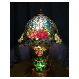 Multi Color Art Glass Table Lamp