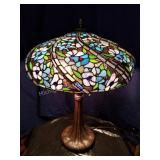 Art Slag Glass Table Lamp