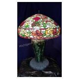 Beautiful Slag Art Glass Table Lamp