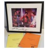 Trapper John Show Scripts with Signed Photograph