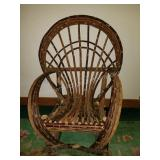 Handmade Willow Twig Rocking Chair
